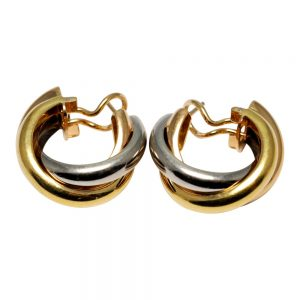 Trinity de Cartier 3 Colour 18ct Gold Earrings