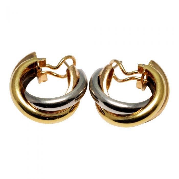 Trinity de Cartier 3 Colour 18ct Gold Earrings