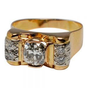 Art Deco Diamond 18ct Gold Ring