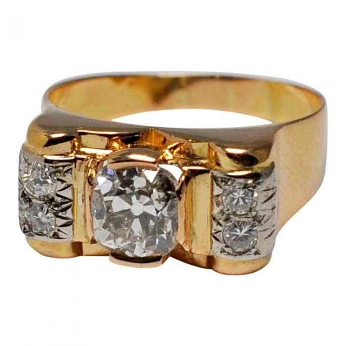 Art Deco Diamond 18ct Gold Ring