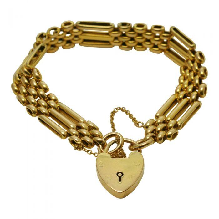 15ct Gold Vintage Gate Bracelet
