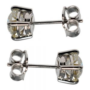 Diamond 18ct White Gold Stud Earrings