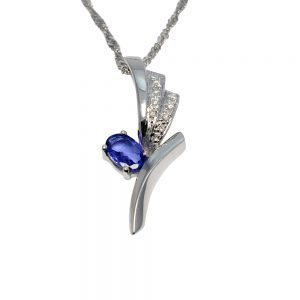 Tanzanite Diamond 18ct Gold Pendant