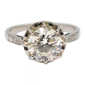 2.07ct Solitaire Diamond Engagement Platinum Ring