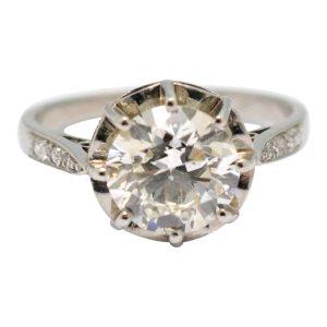 2.07ct Solitaire Diamond Engagement Platinum Ring