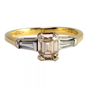GIA Certified Light Brown Diamond 18ct Gold Ring
