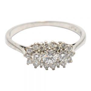 Diamond Platinum 18ct Gold Ring