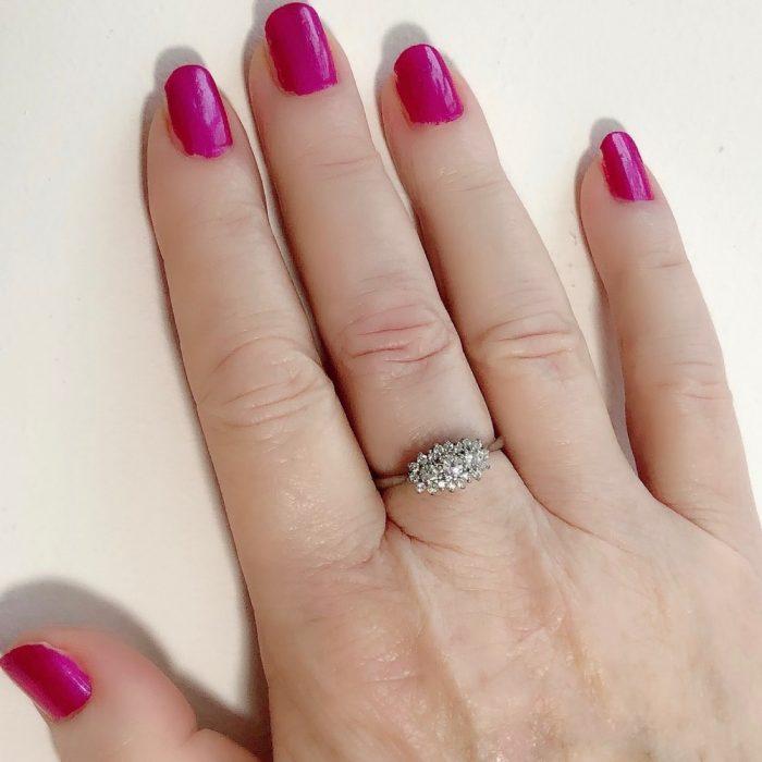 Diamond Platinum 18ct Gold Ring