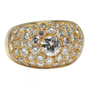 Diamond 18ct Gold Bombé Ring