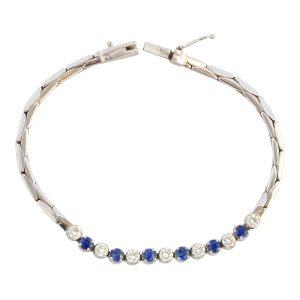 Boodles Sapphire Diamond 18ct Gold Bracelet