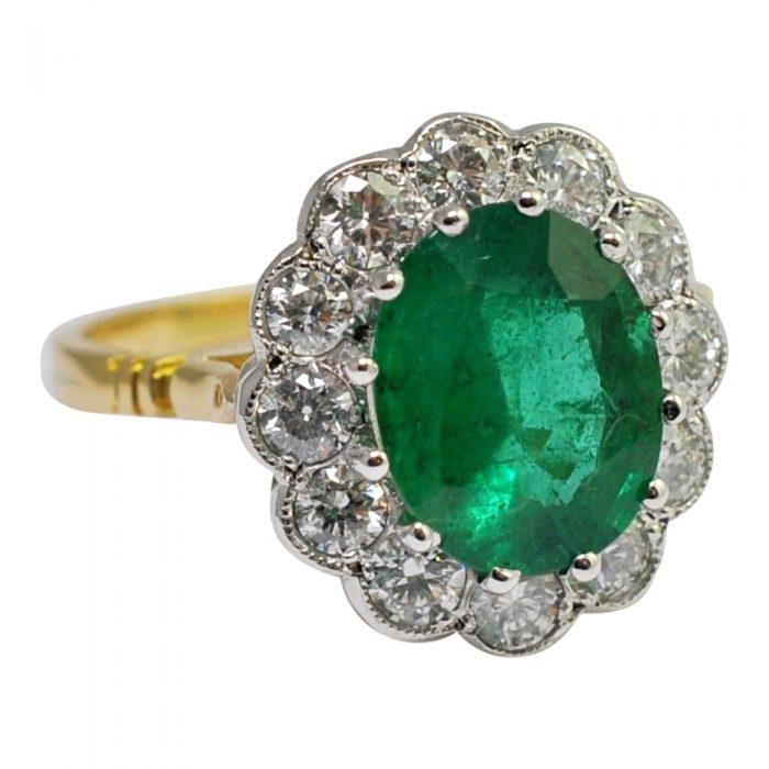 Emerald Diamond 18ct Gold Ring