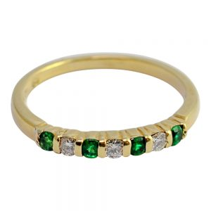 Tiffany & Co. Emerald Diamond 18ct Gold Eternity Ring