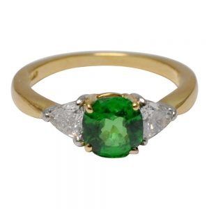 Tsavorite Garnet Diamond 18ct Gold Ring