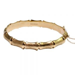 9ct Gold Bamboo Bangle