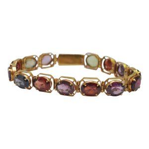 Spinel Multi Gemstone 18ct Gold Bracelet