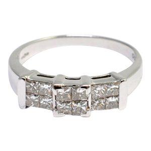 Princess Cut Diamond 18ct Gold Ring