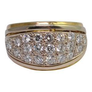Pavé Set Diamond Gold Ring