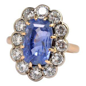 Sapphire Diamond 18ct Gold Ring
