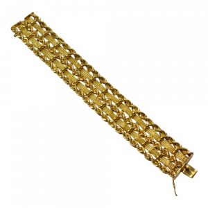 Mid Century 14ct Gold Bracelet