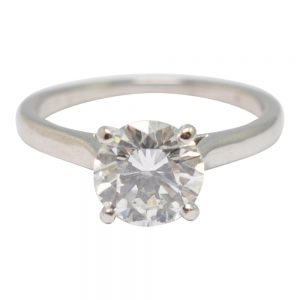 Cartier Solitaire Diamond Platinum Engagement Ring