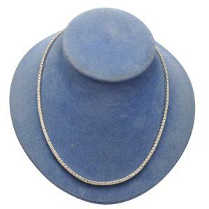 7ct Diamond 18ct Gold Line Necklace