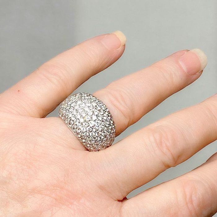 Diamond 18ct Gold Bombé Ring