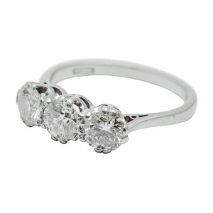 Diamond Platinum Trilogy Ring
