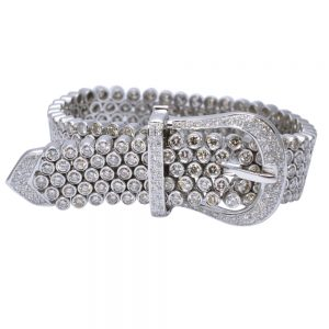 Diamond 18ct Gold Belt Bracelet