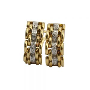 18ct Gold Diamond Clip-On Earrings