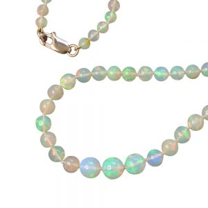 Graduated Opal Necklace