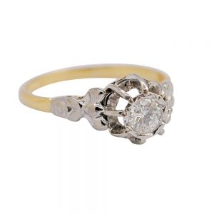 Solitaire Diamond Engagement 18ct Gold Ring