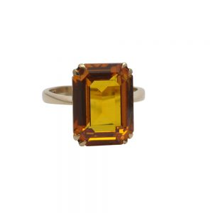 Topaz Gold Cocktail Ring