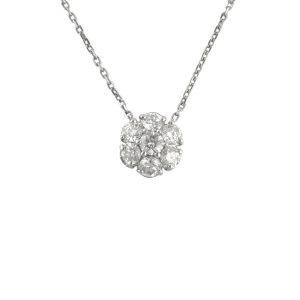 Diamond Halo Necklace