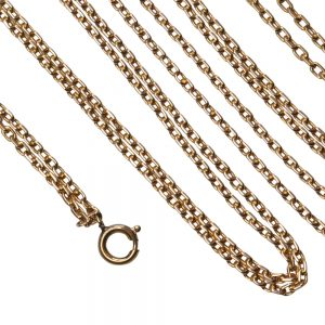 Victorian Long 18ct Gold Chain