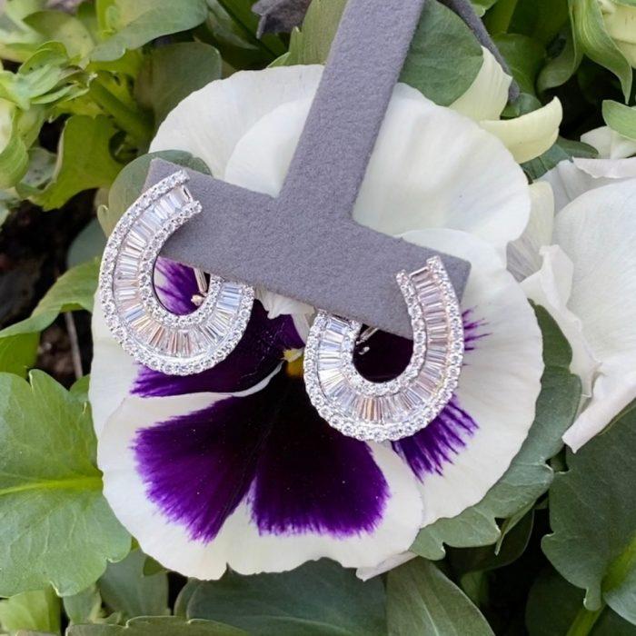 Baguette Diamond 18ct Gold Earrings