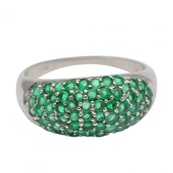 Vintage Emerald Band Ring