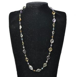 Multi Gemstone & Silver Necklace
