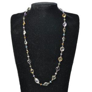 Multi Gemstone & Silver Necklace