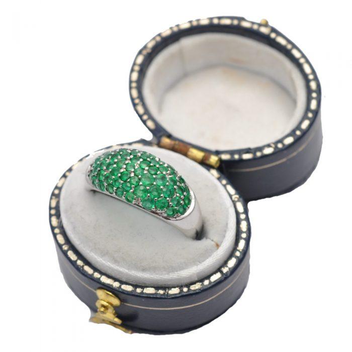 Emerald Band Ring