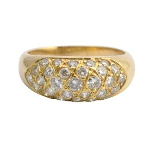 Diamond and 18ct Gold Band Ring