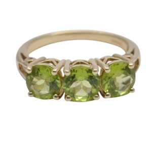Peridot Trilogy Gold Ring