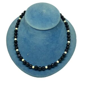 Blue Goldstone and Silver Necklace