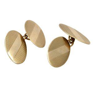 Victorian Gentleman's Gold Cufflinks