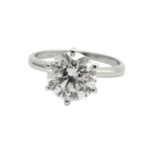 3.15ct Solitaire Diamond Engagement Ring