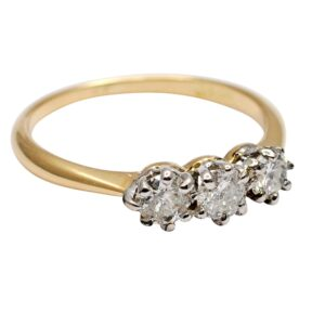 Antique Diamond 18ct Gold Trilogy Ring