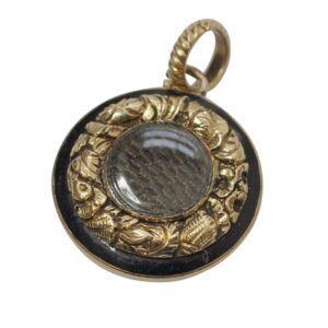 Victorian 15ct Gold Reversible Mourning Pendant