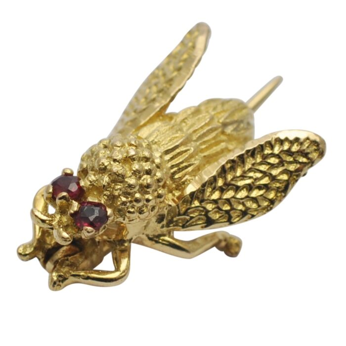 Antique French 18ct Gold Bee Brooch