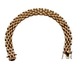 Vintage 9ct Gold Brick Link Bracelet