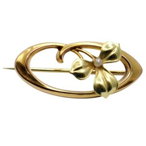 Victorian 15ct Gold Floral Brooch