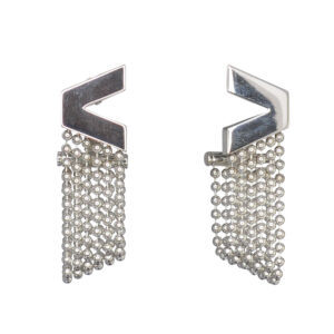 Versace V Divine 18ct White Gold Earrings